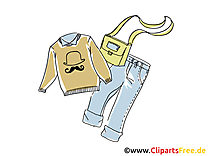 Pull-over jean clipart dessins gratuits