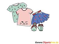 Vêtements petit fille clipart gratuit images
