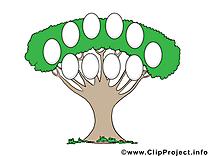 Clip art image gratuite arbre généalogique