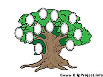 Clip arts gratuits arbre généalogique illustrations