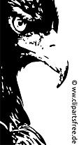 Aigle clip art – Noir et blanc gratuite