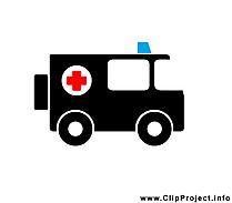 Ambulance dessins gratuits - Noir et blanc clipart