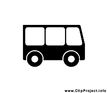 Bus image gratuite - Noir et blanc illustration