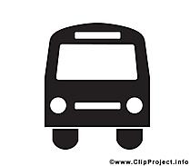 Bus image gratuite – Noir et blanc clipart