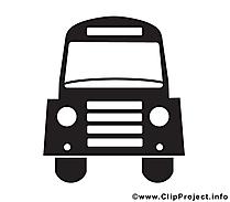 Bus noir et blanc illustration à télécharger gratuite