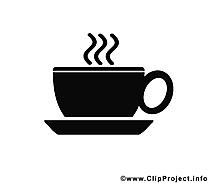 Café dessin à télécharger - Noir et blanc images