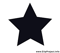 Étoile dessin - Noir et blanc clip arts gratuits