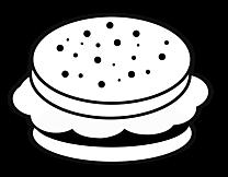 Hamburger dessins gratuits - Noir et blanc clipart