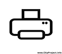 Imprimante dessin - Noir et blanc cliparts à télécharger
