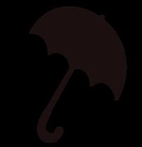 Parapluie noir et blanc image à télécharger gratuite