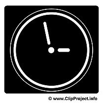 Pendule dessin - Noir et blanc clip arts gratuits
