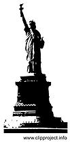 Statue de la liberté images - Noir et blanc dessins gratuits