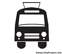 Trolleybus dessin - Noir et blanc à télécharger