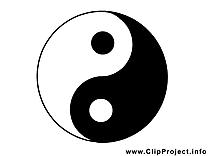 Yin yang noir et blanc image à télécharger gratuite