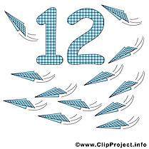 12  avion en papier dessin - Nombre cliparts