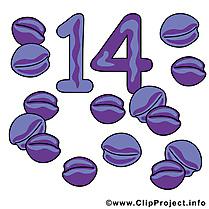 14 prunes dessin gratuit - Nombre image gratuite