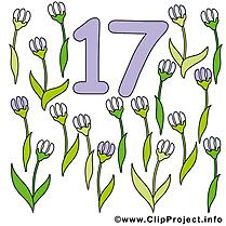 17 fleurs dessins gratuits - Nombre clipart gratuit