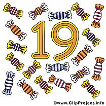 19 bonbon image gratuite - Nombre images cliparts