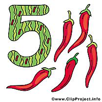 5 poivre cliparts gratuis - Nombre images gratuites