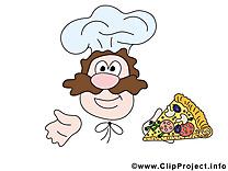 Cuisinier dessin - Nourriture à télécharger