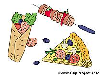 Fastfood dessin - Nourriture cliparts à télécharger