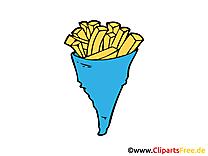 Frites clip art gratuit – Nourriture images
