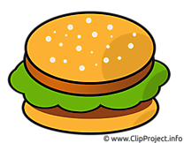 Hamburger dessin - Nourriture cliparts à télécharger