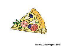 Morceau de pizza dessin - Nourriture clip arts gratuits