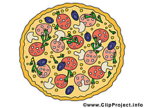 Pizza illustration - Nourriture images
