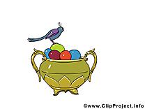 Pot image gratuite - Pâques cliparts