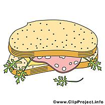 Sandwich clip art gratuit - Nourriture dessin