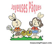 Amoureux lapin dessin gratuit - Pâques image