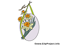 Bouquet dessins gratuits - Pâques clipart