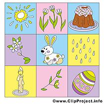 Décoration clip art – Pâques gratuite