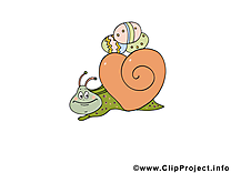 Escargot illustration - Pâques images