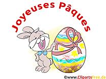 Lapin dessin - Pâques cliparts à télécharger