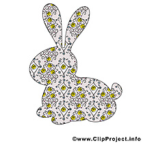Lapin dessins gratuits - Pâques clipart