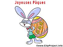 Lapin oeuf illustration gratuite - Pâques clipart