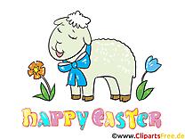 Mouton image gratuite - Pâques illustration