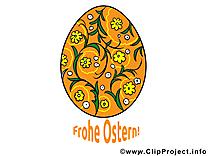 Oeuf décoré dessin - Pâques clip arts gratuits