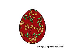 Oeuf dessin pâques à télécharger