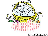 Panier clipart - Pâques dessins gratuits