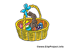 Panier illustration gratuite - Pâques clipart