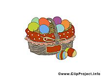 Panier image gratuite – Pâques clipart