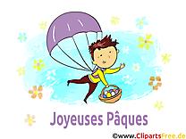 Parachute dessin - Pâques clip arts gratuits