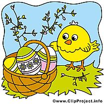 Poussin image - Pâques images cliparts
