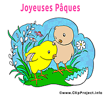 Poussins image à télécharger - Pâques clipart
