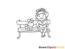 Chat coloriage image à télécharger gratuite