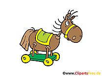 Cheval de bois clip arts gratuits - Maternelle illustrations