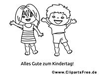 Coloriage enfants - Maternelle illustration